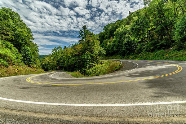 Photograph - Major Curve On Country Road  by Thomas R Fletcher