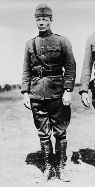 Wall Art - Photograph - Major Theodore Roosevelt Jr. - Ww1 - 1918 by War Is Hell Store