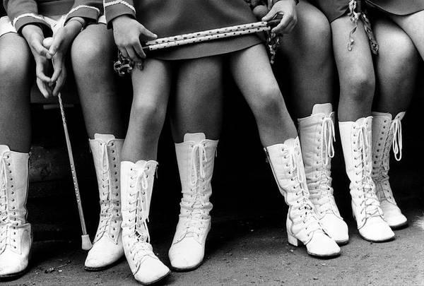 Photograph - Majorettes - by Herve Gloaguen