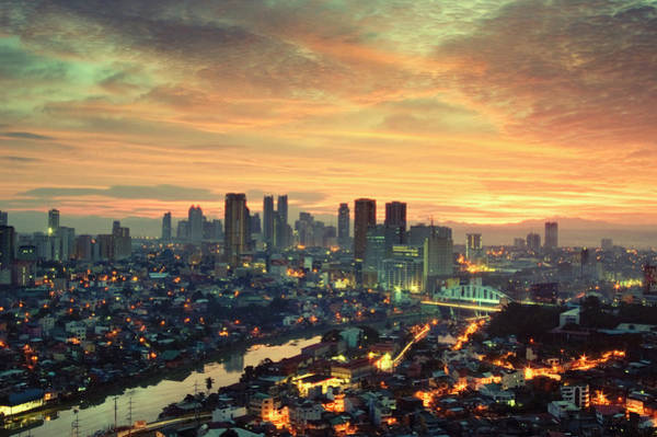 Philippines Photograph - Makati City Skyline by Randy Le'moine