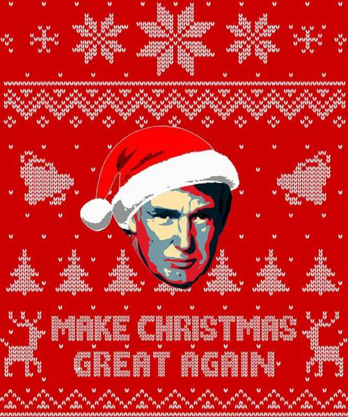 Trump Digital Art - Make Christmas Great Again by Filip Hellman