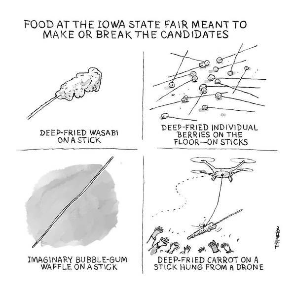 Drawing - Make Or Break State Fair Food by Tim Hamilton