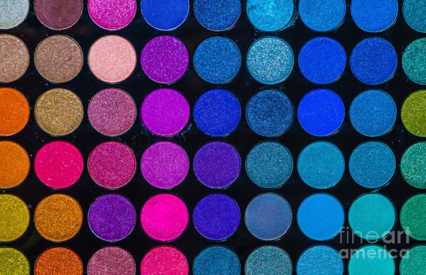 Face Paint Wall Art - Photograph - Makeup Colors by Sotiris Filippou