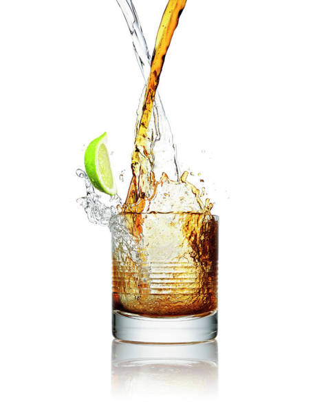 Cocktail Photograph - Making A Cocktail Splash In A Glass by Chris Stein