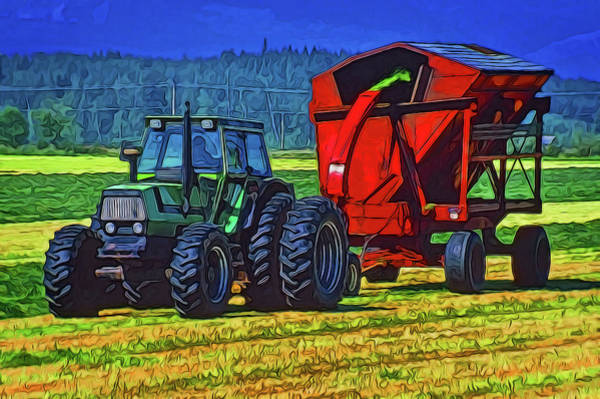 Digital Art - Making Hay by Richard Farrington