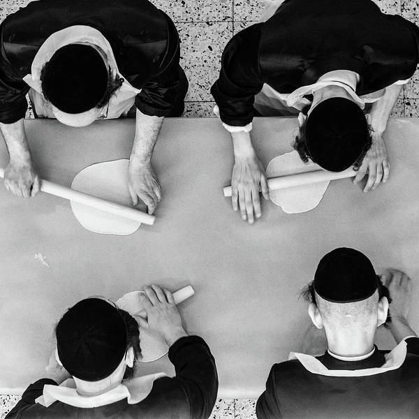 Photograph - Making Matza by Guy Prives