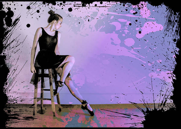 Digital Art - Maksim Grunge Ballet Dancer by Robert G Kernodle
