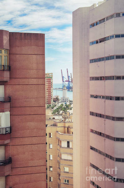 Photograph - Malaga Port And Light House  by Ariadna De Raadt