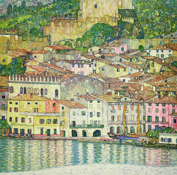 Wall Art - Painting - Malcesine On Lake Garda, 1913 by Gustav Klimt