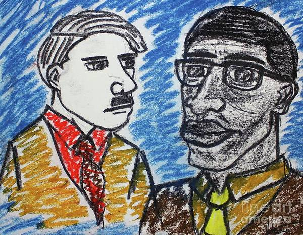 Pastel - Malcolm And Adolf by Odalo Wasikhongo
