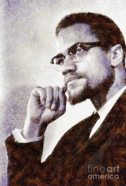 Wall Art - Painting - Malcolm X by Sarah Kirk