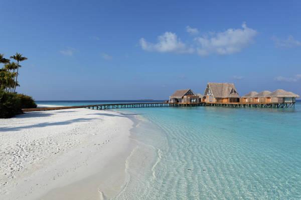Luxury Hotel Photograph - Maldives, Atoll Baa, Hotel, Bungalows by Hauser Patrice / Hemis.fr