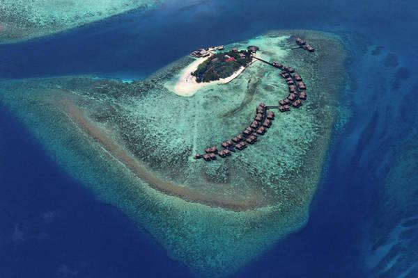 Luxury Hotel Photograph - Maldives, Atoll by Hauser Patrice / Hemis.fr