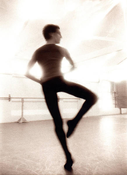 Practice Photograph - Male Ballet Dancer Practicing In Dance by Ade Groom