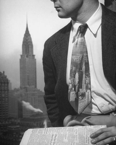 Photograph - Male Model Wearing The Latest Trend, A P by Nina Leen