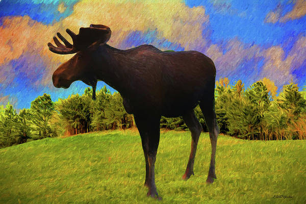 Painting - Male Moose 3063 - Painted by Ericamaxine Price