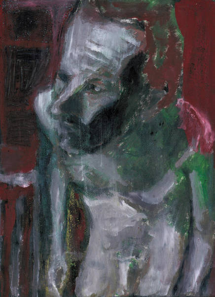 Painting - Male Nude Standing Crouched 3 by Artist Dot