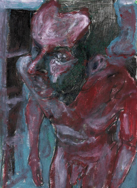 Painting - Male Nude Standing Crouched 6 by Artist Dot