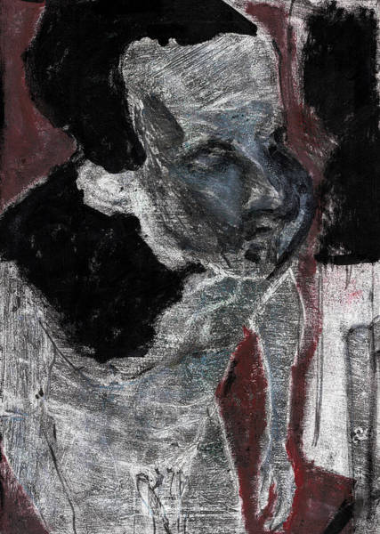 Painting - Male Nude Standing Crouched 7 by Artist Dot