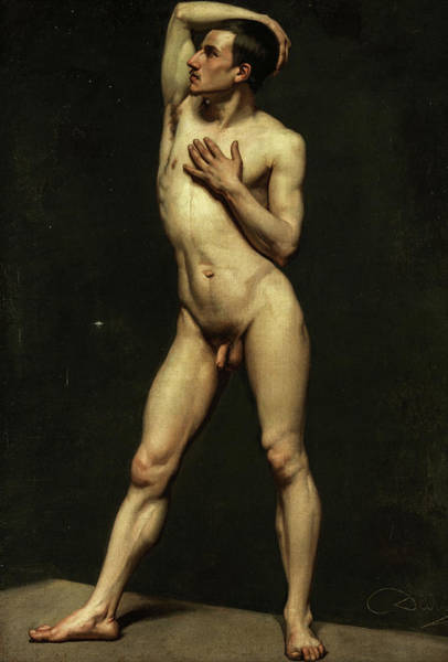 Painting - Male Nude by Unknown artist