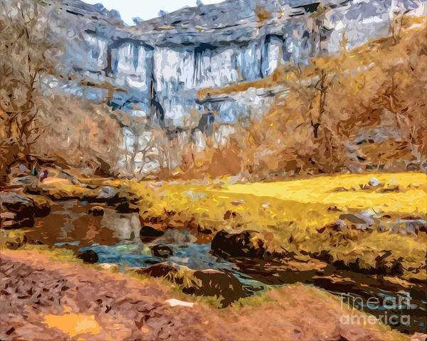 Photograph - Malham Cove And Stream by Nigel Dudson