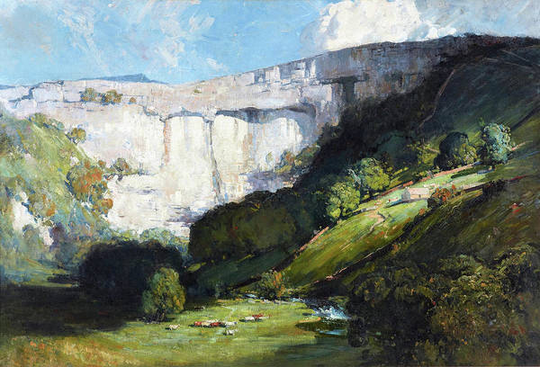 Wall Art - Painting - Malham Cove - Digital Remastered Edition by Arthur Streeton