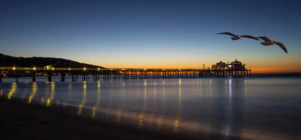 Photograph - Malibu Pier At Sunrise by John Rodrigues