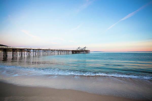 Pier Photograph - Malibu Pier Sunset by Lee Pettet