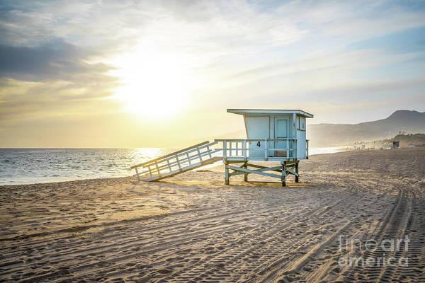Wall Art - Photograph - Malibu Zuma Beach Lifeguard Tower #4 Sunset by Paul Velgos