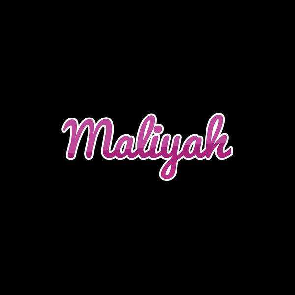 Wall Art - Digital Art - Maliyah #maliyah by Tinto Designs