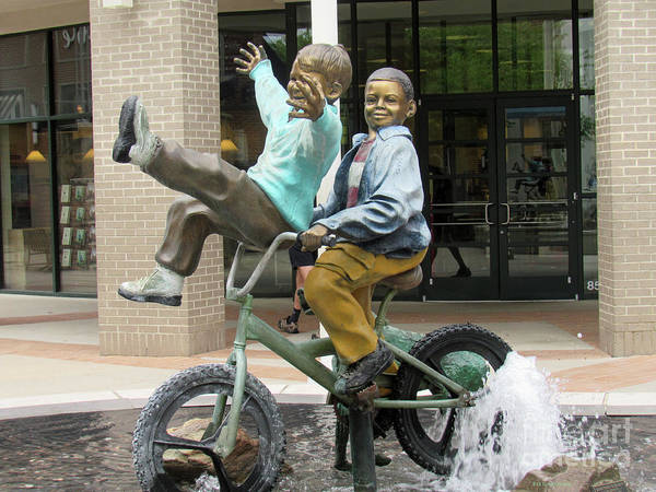 Photograph - Mall Statue Bike Ride by Roberta Byram