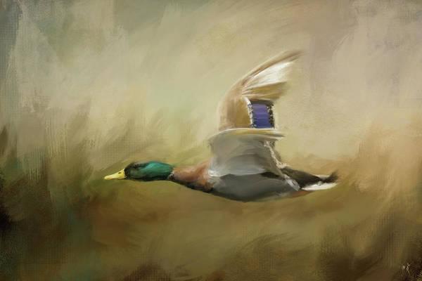 Painting - Mallard In The Marsh by Jai Johnson