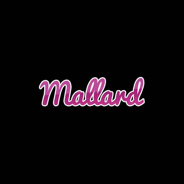 Digital Art - Mallard #mallard by TintoDesigns