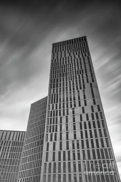Clarion Photograph - Malmo Live Building Blocks Black And White by Antony McAulay