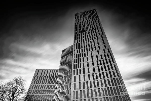 Clarion Photograph - Malmo Live Building Blocks Looking Upwards by Antony McAulay