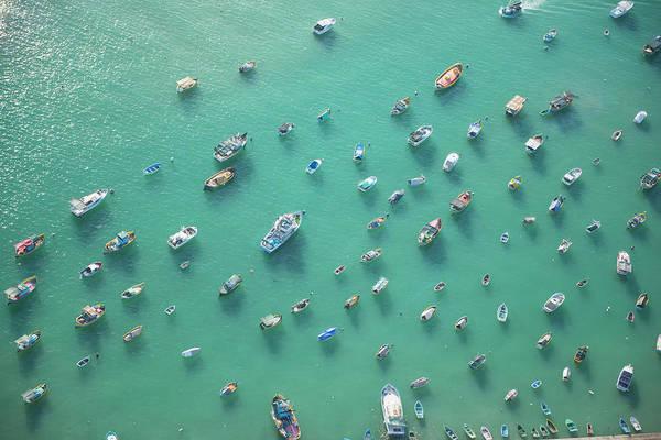 Fishing Boat Photograph - Malta. Aerial View Of Boats by Jason Hawkes