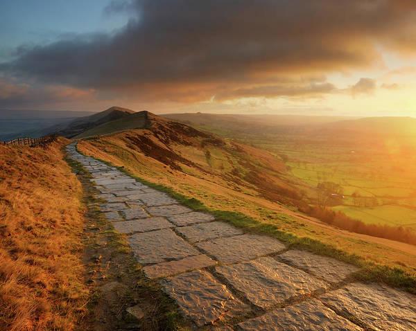 Peak District National Park Photograph - Mam Tor Sunrise, Peak District by Chris Hepburn