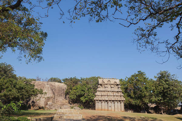 Photograph - Mamallapuram, Ganesha Ratha by Maria Heyens