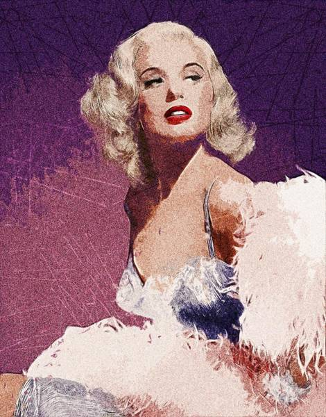Wall Art - Painting - Marilyn Monroe by ArtMarketJapan