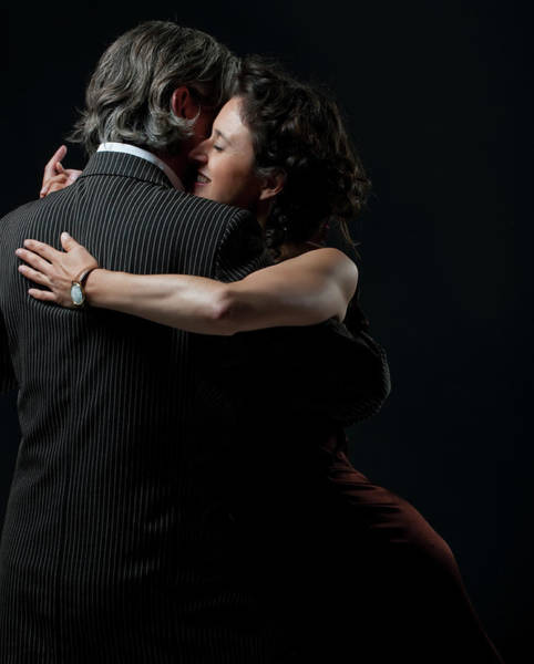 Heterosexual Couple Photograph - Man & Woman Dancing Tango by Colin Hawkins