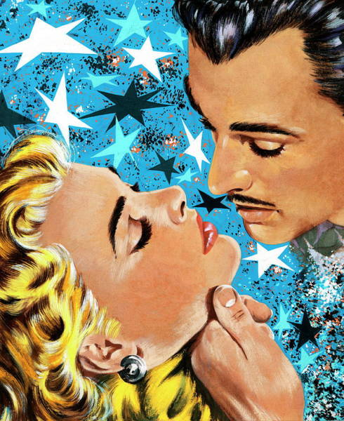 Adult Digital Art - Man About To Kiss Blonde Woman by Csa Images