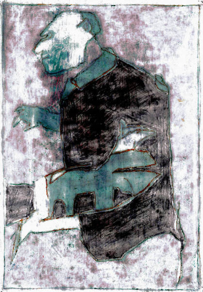 Painting - Man And A Dog by Artist Dot
