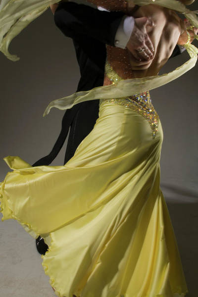 Caucasian Photograph - Man And Woman Ballroom Dancing, Low by Pm Images