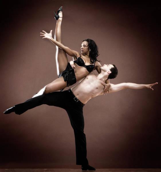 Man And Woman Dancing Art Print