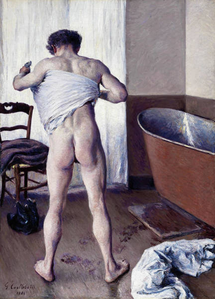 Wall Art - Painting - Man At His Bath - Digital Remastered Edition by Gustave Caillebotte