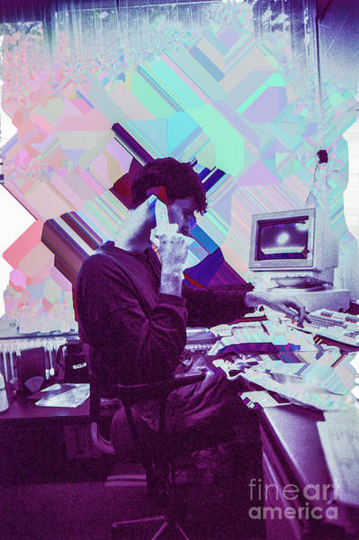 Wall Art - Photograph - Man Behind Desk And Scanner Error by Guido Koppes