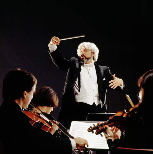 Gray Hair Photograph - Man Conducting Orchestra, View From by Lwa
