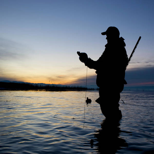 Wading Photograph - Man Duck Hunting by Rubberball Productions