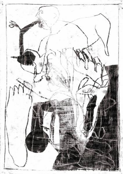 Drawing - Man Eating Fruit by Artist Dot