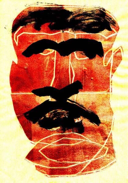 Digital Art - Man Face Digital 1 by Artist Dot